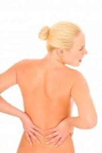 Naked female back